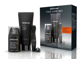 Etre belle - Platinmen - Face care set - pánsky set pleťový balzám, očné sérum a sprchový gél