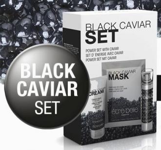 Être Belle - Black Caviar Set - set s obsahom čierneho kaviáru a aktivovaného uhlia