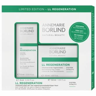 Annemarie Börlind - LL Regeneration – Sada regeneračný denný krém + Gél z orosených kvetov 15 ml GRÁTIS