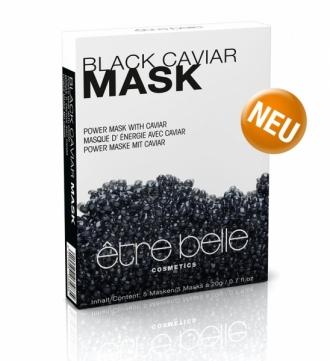 Être Belle - Black caviar fleece mask - Flísová maska s obsahom čierneho kaviáru 5 ks balenie