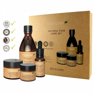 Être Belle - Naturel - Face care set- set naturel s bavlnenou čistiacou rukavicou grátis
