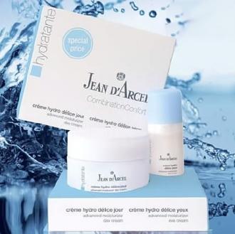 Jean D'Arcel - Hydratante - Combination confort set - set denný a očný hydratačný krém