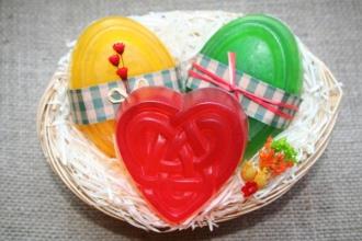 Darčekový košík - 3 glycerínové mydlá