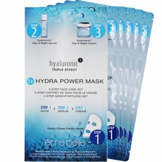Être Belle - Hyaluronic - Hydra power fleece mask set 5 ks - 5ks hydratačných masiek hyaluronic